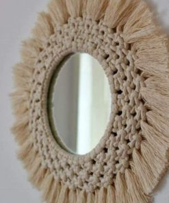 Mirror with Macrame